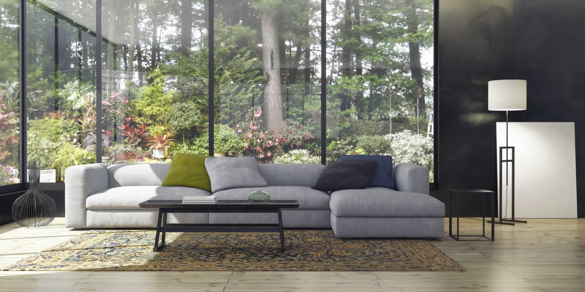 Gut Wohnzimmer Mit Nature Tapete