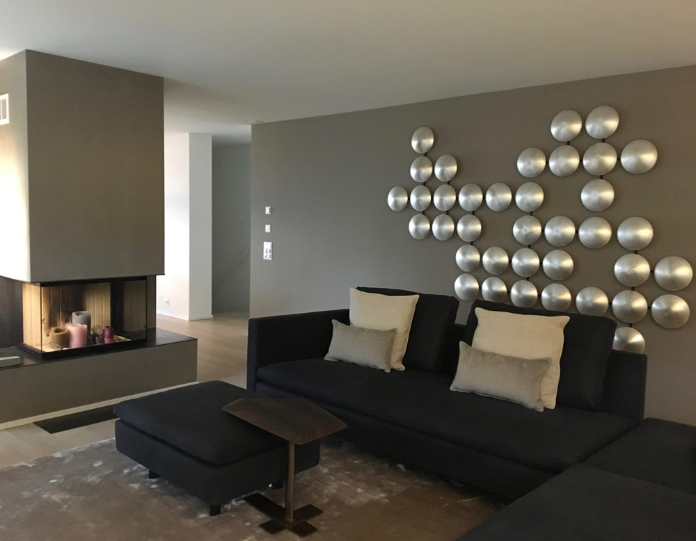 Wohnzimmer Mit Licht Konzept